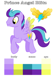 Size: 1320x1828 | Tagged: safe, artist:soarindash10, oc, oc only, pony, color palette, colored wings, cutie mark, next generation, offspring, parent:flash sentry, parent:twilight sparkle, parents:flashlight, pegasus oc, simple background, solo, wings