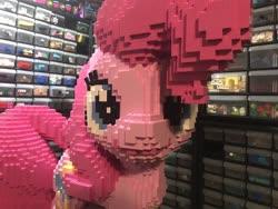 Size: 2048x1536 | Tagged: safe, artist:mc_survival_man, pinkie pie, pony, irl, lego, photo, solo