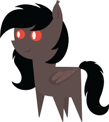 Size: 5226x5835 | Tagged: safe, artist:cosmiceclipsed, derpibooru exclusive, oc, oc only, oc:choco, bat pony, pony, bat pony oc, bat wings, ear fluff, female, mare, membranous wings, simple background, slit eyes, slit pupils, solo, transparent background, wings