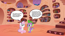 Size: 1280x711 | Tagged: safe, artist:bobdude0, artist:icy wings, artist:the smiling pony, spike, sweetie belle, game of thrones, golden oaks library, shipping