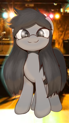 Size: 1920x3413 | Tagged: safe, artist:interrupter, oc, oc only, pony, long mane, looking at you, smiling