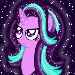 Size: 1000x1000 | Tagged: safe, artist:katya, starlight glimmer, unicorn, bust, portrait, solo