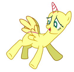 Size: 1187x1166 | Tagged: safe, anonymous artist, fluttershy, alicorn, pony, base, female, flying, horn, mare, open mouth, simple background, solo, spread hooves, spread legs, spreading, transparent background, wings