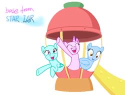 Size: 645x490 | Tagged: safe, artist:star studded, earth pony, pegasus, unicorn, base