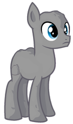 Size: 649x1097 | Tagged: safe, artist:rainbow eevee, earth pony, pony, battle for bfdi, battle for dream island, bfb, bfdi, blue background, male, ponified, rock, rock pony, rocky (bfb), simple background, solo, transparent background, wat