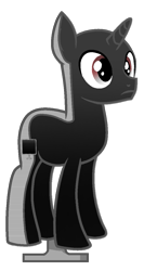 Size: 645x1208 | Tagged: safe, artist:rainbow eevee, earth pony, pony, unicorn, battle for bfdi, battle for dream island, bfb, bfdi, host, male, not salmon, ponified, simple background, solo, television, transparent background, tv (bfb), wat