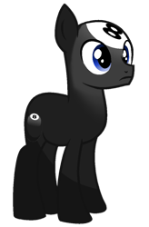 Size: 723x1099 | Tagged: safe, artist:rainbow eevee, earth pony, object pony, original species, pony, 8 ball, 8 ball (bfb), battle for bfdi, battle for dream island, bfb, bfdi, male, number, ponified, simple background, solo, transparent background
