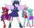 Size: 1259x1061 | Tagged: safe, artist:徐詩珮, fizzlepop berrytwist, glitter drops, spring rain, tempest shadow, twilight sparkle, alicorn, anthro, human, series:sprglitemplight diary, series:sprglitemplight life jacket days, series:springshadowdrops diary, series:springshadowdrops life jacket days, equestria girls, alternate universe, base used, bisexual, clothes, cute, equestria girls-ified, feet, female, glitterbetes, glitterlight, glittershadow, lesbian, lifeguard, lifeguard spring rain, paw patrol, polyamory, ponied up, sandals, shipping, simple background, sprglitemplight, springbetes, springdrops, springlight, springshadow, springshadowdrops, tempestbetes, tempestlight, transparent background, twilight sparkle (alicorn), vector