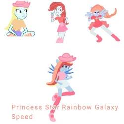 Size: 512x512 | Tagged: safe, oc, oc:princess galaxy rose, oc:rainbow speed, oc:starjack, equestria girls, base, base used, fusion, princess star rainbow galaxy speed