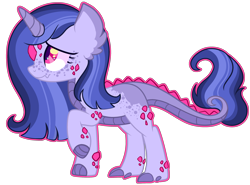 Size: 3000x2220 | Tagged: safe, artist:kurosawakuro, oc, dracony, dragon, hybrid, pony, base used, female, high res, interspecies offspring, magical lesbian spawn, offspring, outline, parent:princess ember, parent:twilight sparkle, parents:emberlight, simple background, solo, transparent background