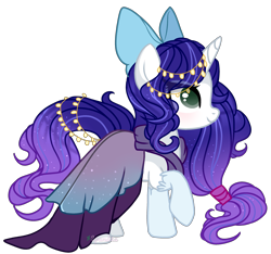 Size: 2633x2461 | Tagged: safe, artist:2pandita, oc, pony, unicorn, bow, clothes, dress, female, hair bow, high res, mare, simple background, solo, transparent background