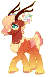 Size: 1280x1985 | Tagged: safe, artist:kurosawakuro, oc, oc only, hybrid, base used, interspecies offspring, offspring, parent:fluttershy, parent:the great seedling, simple background, solo, transparent background