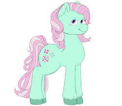 Size: 1089x951 | Tagged: safe, artist:anonymous, minty (g1), earth pony, pony, /mlp/, 4chan, drawthread, solo