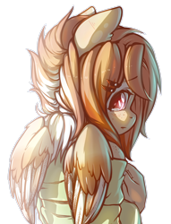 Size: 2142x2799 | Tagged: safe, artist:koi-to, oc, oc only, oc:ruru, anthro, pegasus, anthro oc, blushing, brown eyes, brown mane, clothes, female, freckles, frown, hairpin, looking at you, looking back, looking back at you, looking over shoulder, rear view, shoulder freckles, shy, simple background, solo, teary eyes, transparent background, two toned mane, white outline