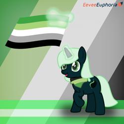 Size: 1102x1102   Tagged: safe, artist:eevee euphoria, oc, oc only, unicorn, aromantic, aromantic pride flag, aromatic, pride, pride flag