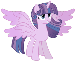 Size: 1024x837 | Tagged: safe, artist:lymamynsay11, princess flurry heart, twilight sparkle, alicorn, pony, seraph, seraphicorn, fusion, multiple wings, solo, twilight sparkle (alicorn)