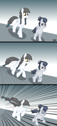 Size: 1800x3975 | Tagged: safe, artist:banquo0, rumble, oc, oc:caring hearts, pegasus, ara ara, ara ara chase meme, chase, comic, female, following, implied incest, implied rumblecest, male, meme, meme template, mother, mother and child, mother and son, ponified meme, son, this will end in cuddles, this will end in hugs, this will end in intensive mothering, this will end in kisses, this will end in love, this will end in snu snu