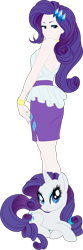 Size: 1993x5987 | Tagged: safe, artist:pink1ejack, kotobukiya, rarity, human, pony, unicorn, equestria girls, absurd resolution, bare shoulders, blushing, clothes, colored, cute, eyeshadow, female, flat colors, high heels, human coloration, human ponidox, humanized, jewelry, kotobukiya rarity, legs, looking at you, looking back, looking back at you, looking over shoulder, makeup, mare, miniskirt, moe, raribetes, self ponidox, shoes, side slit, simple background, skirt, sleeveless, smiling, transparent background, vector