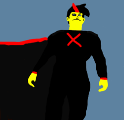 Size: 684x664 | Tagged: safe, artist:buttsuckintin, oc, oc:dasher, human, dc comics, earth-x, humanized, humanized oc, solo, superman