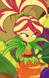 Size: 750x1187 | Tagged: safe, sunset shimmer, equestria girls, equestria girls series, holidays unwrapped, spoiler:eqg series, spoiler:eqg series (season 2), cornucopia costumes, o come all ye squashful, solo