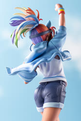 Size: 667x1000 | Tagged: safe, kotobukiya, rainbow dash, human, ass, behind, butt, clothes, denim shorts, figurine, goggles, goggles on head, humanized, jean shorts, kotobukiya rainbow dash, legs, moe, rainbutt dash, shorts, statue, tomboy, visible butt