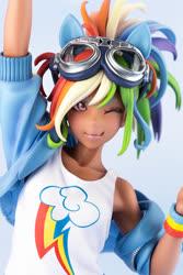 Size: 667x1000 | Tagged: safe, kotobukiya, rainbow dash, human, goggles, humanized, kotobukiya rainbow dash, moe
