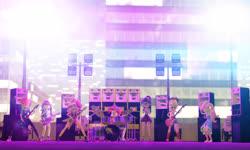 Size: 5120x3072 | Tagged: safe, artist:n3onh100, applejack, fluttershy, pinkie pie, rainbow dash, rarity, sci-twi, sunset shimmer, twilight sparkle, equestria girls, 3d, bass guitar, drums, generator, gmod, guitar, keytar, microphone, musical instrument, speakers, spotlight, tambourine, the rainbooms