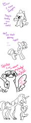 Size: 500x2000 | Tagged: safe, artist:pencilbrony, spike, twilight sparkle, alicorn, dragon, pony, comic, fingers, suddenly hands, twilight sparkle (alicorn), wat, what has magic done