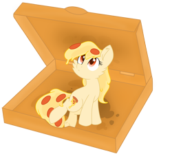 Size: 1848x1655 | Tagged: safe, artist:rainbow eevee, oc, oc only, oc:mozzarella orgy, food pony, original species, pizza pony, pony, cute, female, food, no shading, ponified, red eyes, simple background, solo, transparent background