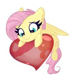 Size: 1300x1400 | Tagged: safe, artist:littleblackraencloud, fluttershy, pegasus, pony, chibi, cute, ear fluff, female, heart, heart eyes, mare, shyabetes, simple background, smiling, solo, white background, wingding eyes