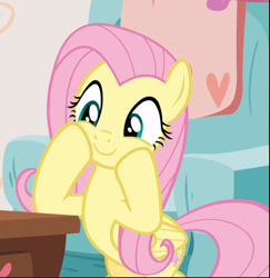 Size: 914x940 | Tagged: safe, screencap, fluttershy, pegasus, pony, discordant harmony, cropped, cute, excited, female, hooves on cheeks, mare, shyabetes, smiling, solo