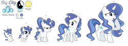 Size: 5775x2097   Tagged: safe, artist:galaxyswirlsyt, oc, oc:sky city, pony, unicorn, 5-year-old, age progression, baby, baby pony, base used, female, filly, high res, mare, offspring, parent:fancypants, parent:rarity, parents:raripants, simple background, teenager, transparent background
