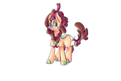 Size: 6000x4000 | Tagged: safe, artist:coco-drillo, oc, oc only, oc:nouth, kirin, accessories, colourful, commission, cute, glasses, kirin oc, male, simple background, solo, transparent background