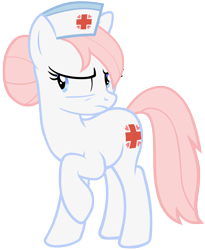 Size: 10000x12200 | Tagged: safe, artist:vunlinur, nurse redheart, earth pony, pony, absurd resolution, female, mare, raised hoof, simple background, transparent background, vector