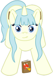 Size: 1420x2020 | Tagged: safe, artist:poniidesu, oc, oc only, pony, unicorn, /mlp/, blue eyes, book, both cutie marks, butt, colored, colt, cute, cutie mark, drawthread, dungeons and dragons, eyelashes, flat colors, lip bite, looking at you, male, pen and paper rpg, plot, requested art, rpg, simple background, solo, transparent background