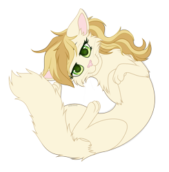 Size: 2773x2827 | Tagged: safe, artist:starshade, sweet biscuit, cat, :3, catified, cute, female, full body, looking at you, mare, simple background, smiling, solo, species swap, transparent background