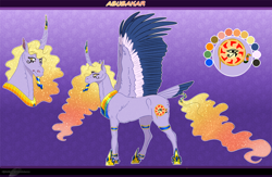 Size: 1404x917 | Tagged: safe, artist:bijutsuyoukai, oc, oc:abubakar, alicorn, pony, colored wings, male, multicolored wings, solo, stallion, tail feathers, wings