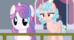 Size: 496x273 | Tagged: safe, artist:darkgloones, cozy glow, princess flurry heart, alicorn, pegasus, pony, a better ending for cozy, attempted murder, cozy glow is not amused, crystal empire, older, older cozy glow, older flurry heart, youtube link