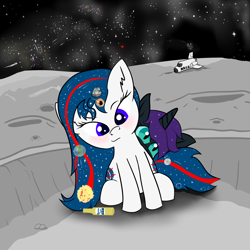 Size: 5000x5000 | Tagged: safe, alternate version, artist:poniidesu, oc, oc only, oc:apogee, oc:nyx, alicorn, earth pony, pegasus, pony, absurd resolution, alcohol, alicorn oc, anime, atmosphere, beer, black hole, blue eyes, blushing, comet, corona, crater, cute, desu, drawthread, ear fluff, earth, ethereal mane, eyebrows, eyelashes, fanfic art, female, filly, food, freckles, galaxy, heart, hurricane, japanese, lens flare, looking at you, loss (meme), mare in the moon, mars, milky way galaxy, moon, motion lines, nasa, nasapone, nebula, night, night sky, north america, ocbetes, pepperoni pizza, pizza, ponified, raised eyebrow, rock, rook, shading, shooting star, signature, sitting, sky, smug, space, space shuttle, starry mane, stars, sun, text, tiny, tiny ponies