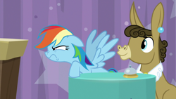 Size: 1920x1080 | Tagged: safe, screencap, matilda, rainbow dash, a trivial pursuit, spoiler:s09e16