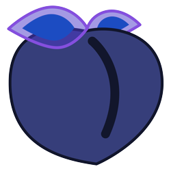 Size: 4096x4096 | Tagged: safe, artist:rebane2001, edit, princess luna, butt, butt emoji, emoji, food, inanimate tf, peach, simple background, solo, transformation, transparent background