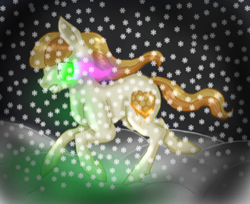 Size: 320x261 | Tagged: safe, artist:aqua shield, oc, oc:honeycomb, crystal pony, crying, solo