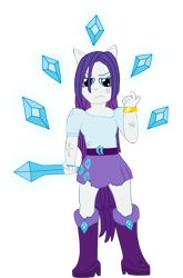 Size: 1181x1785 | Tagged: safe, artist:mtad2, rarity, equestria girls, clothes, diamond, diamonds, messy hair, ponied up, scar, simple background, solo, torn clothes, transparent background