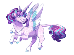 Size: 2000x1500 | Tagged: safe, artist:uunicornicc, princess flurry heart, pony, alternate design, colored wings, multicolored wings, older, simple background, solo, white background, wings
