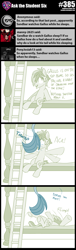 Size: 800x2630 | Tagged: safe, artist:sintakhra, gallus, sandbar, pony, tumblr:studentsix, arms in the air, bunk bed, falling, hitting, ladder, tail, tail wrap
