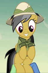 Size: 616x938 | Tagged: safe, screencap, daring do, pegasus, pony, daring done?, cropped, cute, daring dorable, smiling, solo