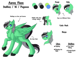 Size: 6400x5000 | Tagged: safe, artist:amazing-artsong, oc, oc:aaron flaze, pegasus, pony, absurd resolution, male, reference sheet, simple background, solo, stallion, transparent background
