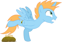 Size: 2959x2027 | Tagged: safe, artist:digiral, oc, oc only, oc:harmony star, alicorn, alicorn oc, behaving like a chicken, egg, simple background, solo, transparent background