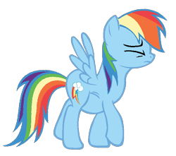 Size: 676x598   Tagged: artist needed, safe, rainbow dash, pegasus, pony, backwards cutie mark, belly, fat, female, mare, rainblob dash, simple background, solo, stuffed, transparent background, vector, walking, wings
