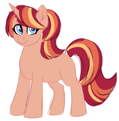 Size: 1024x1043 | Tagged: safe, artist:azure-art-wave, oc, oc:dawn, pony, unicorn, female, magical lesbian spawn, mare, offspring, parent:sunset shimmer, parent:twilight sparkle, parents:sunsetsparkle, simple background, solo, transparent background